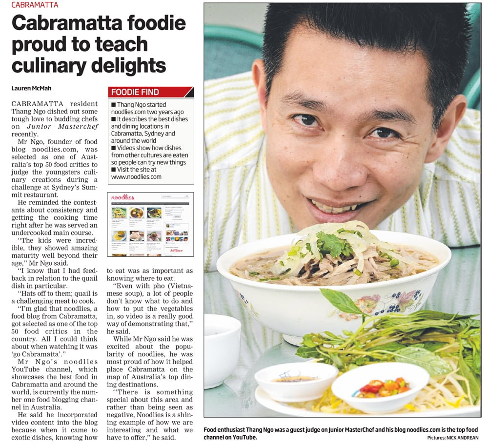 noodlies Sydney Food Blog in Fairfield Advance