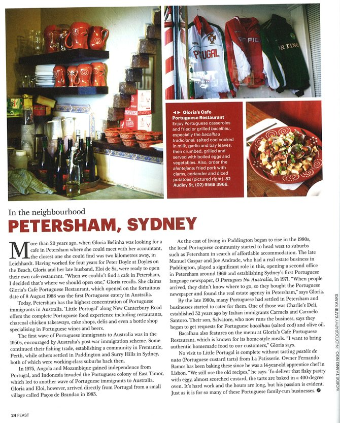 Feast Magazine, November 2011 – Petersham Feature