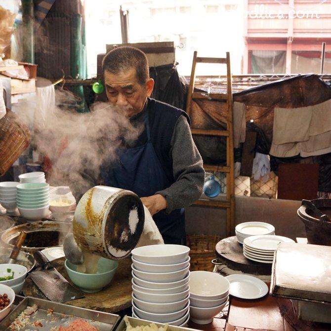 Congee Breakfast, Woosung St Temporary Hawker Bazaar, Jordan, Hong Kong
