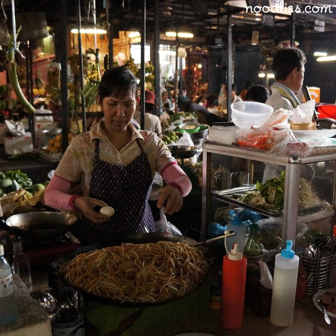 Fried Noodlies, Russian Market, Phnom Penh, Cambodia