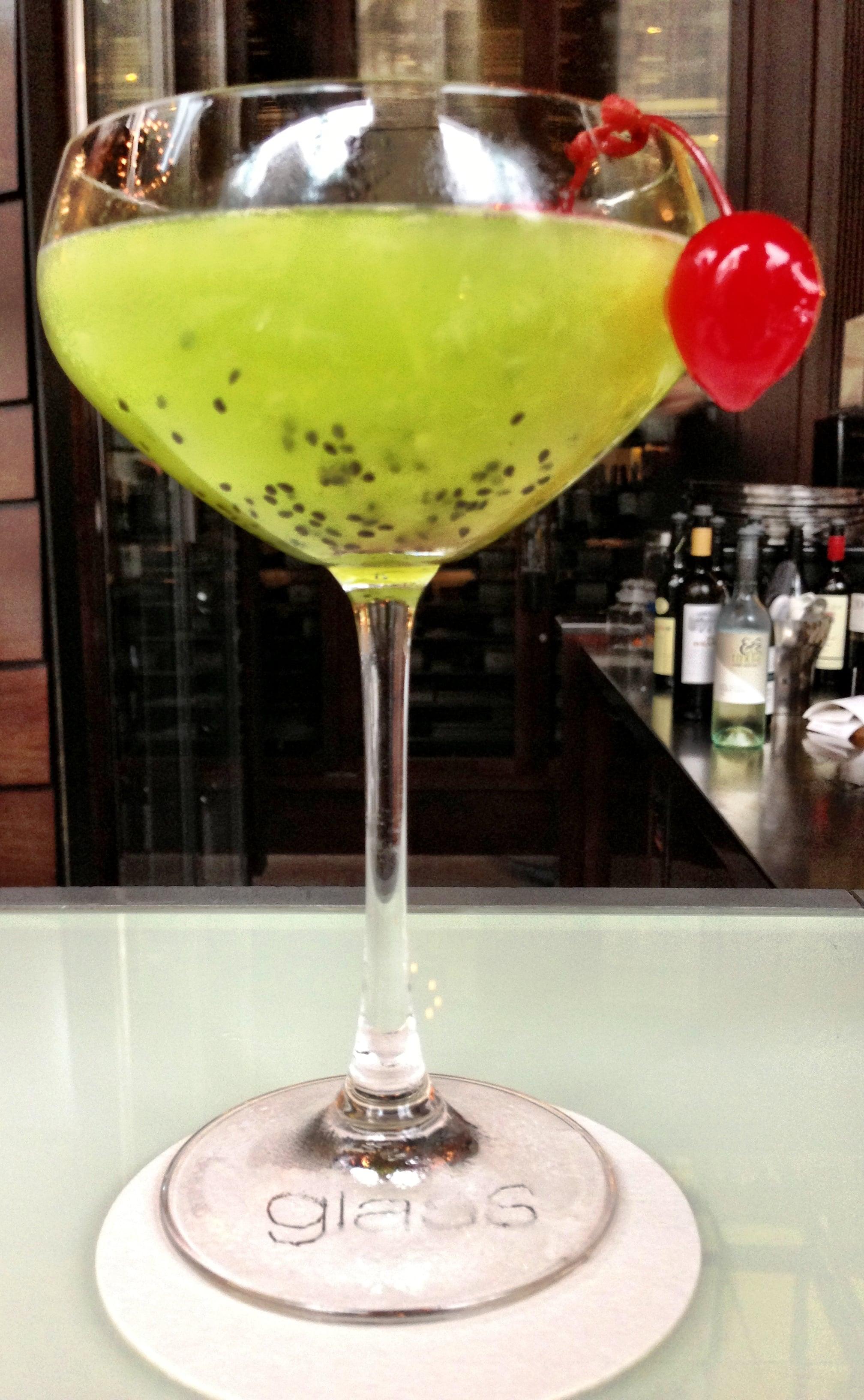 Kiwi Vanilla Coupe Cocktail, Hilton Hotel, Sydney