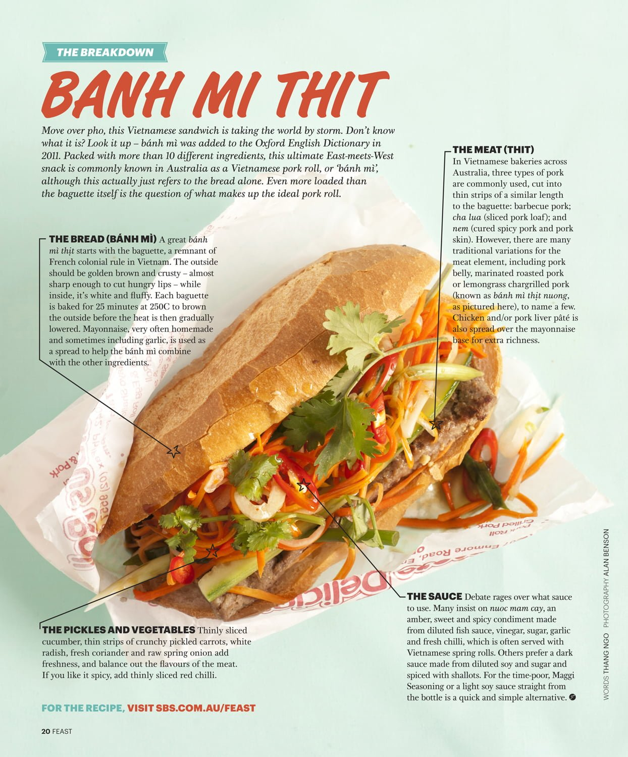 Banh Mi, Feast Magazine, December 2012
