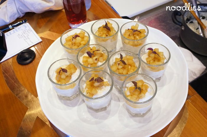 Rice Pudding with pineapple compote recipe