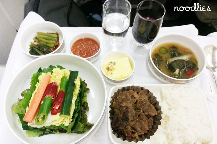 Asiana business class 0z601 seoul to sydney noodlies for Asiana korean cuisine restaurant racine