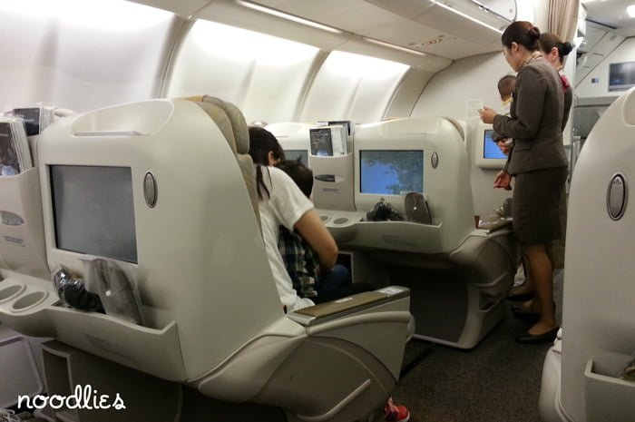 Asiana Business Class, 0Z601, Seoul to Sydney