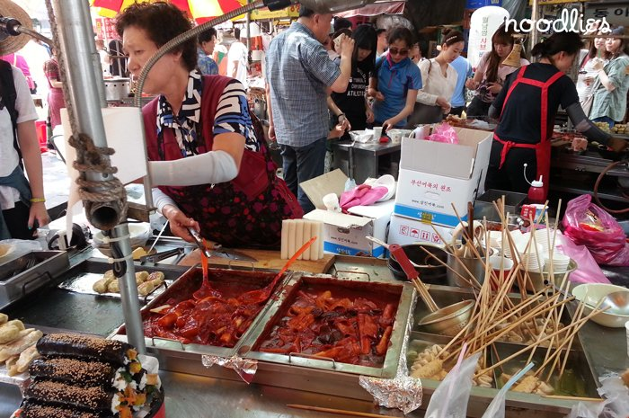 Street food in Busan, South Korea