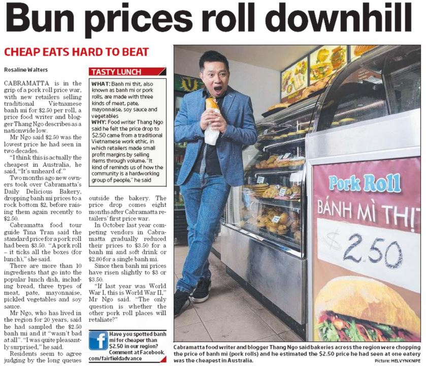 Biting into a Vietnamese pork roll price war in Cabramatta