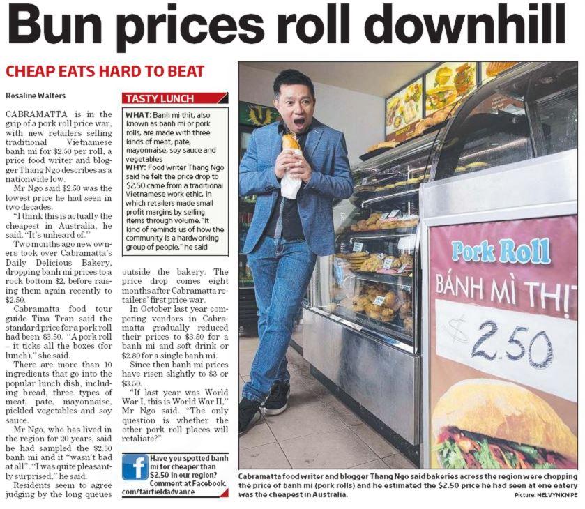 Biting into a Vietnamese pork roll price war in Cabramatta