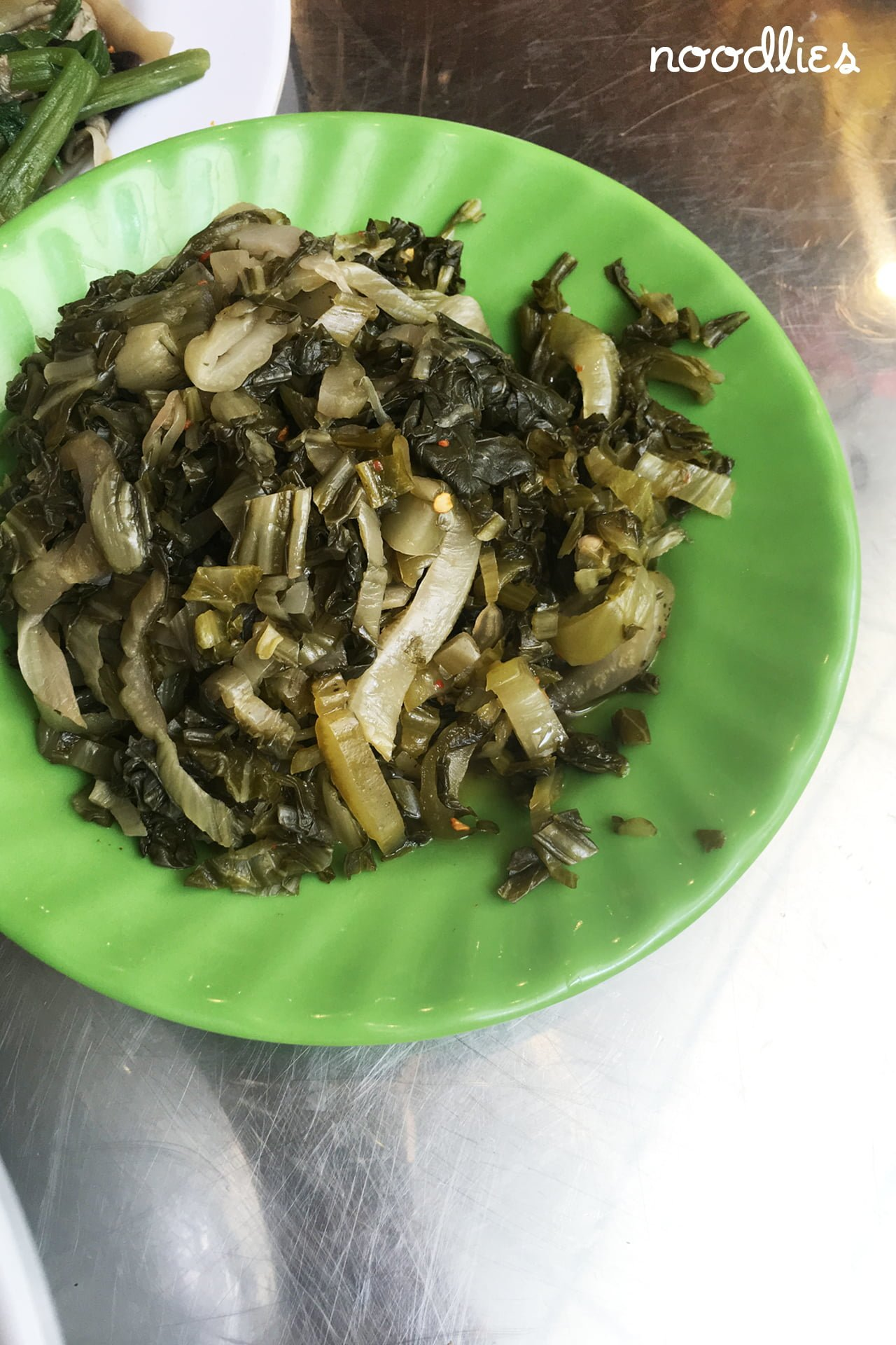 Khuong Viet temple fried mustard greens