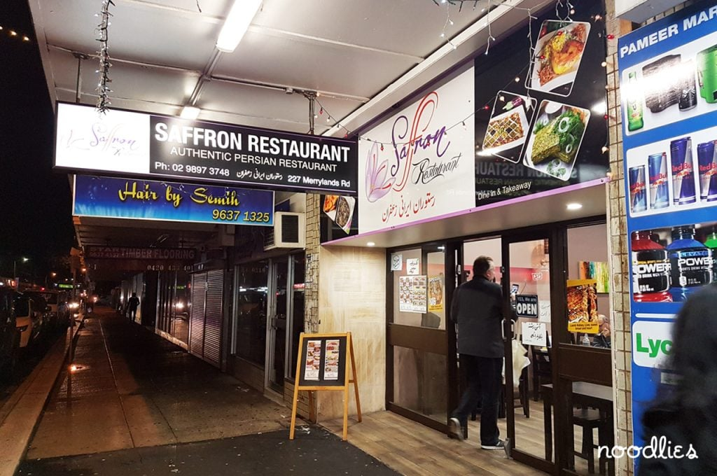 saffron persian restaurant merrylands