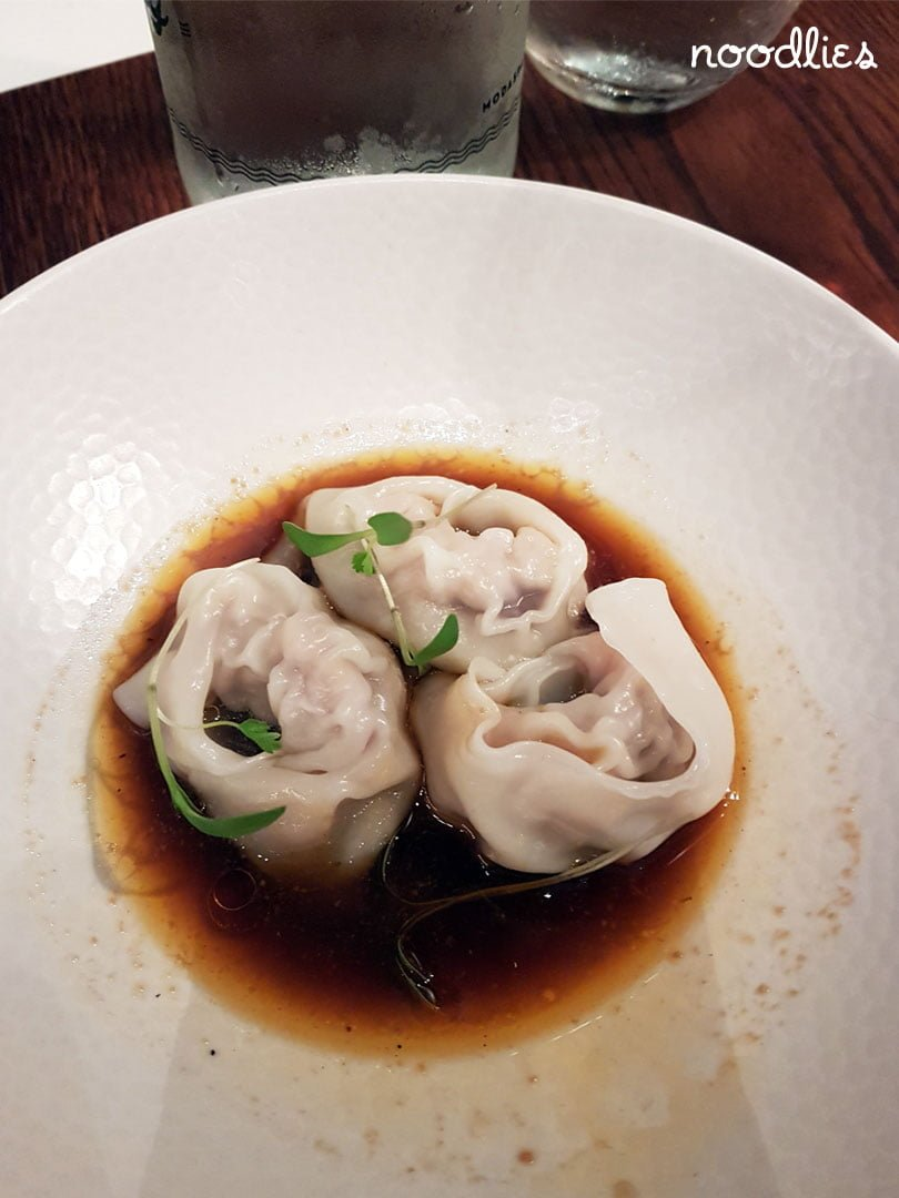 Steamed duck and pork dumplings. Holy Duck!